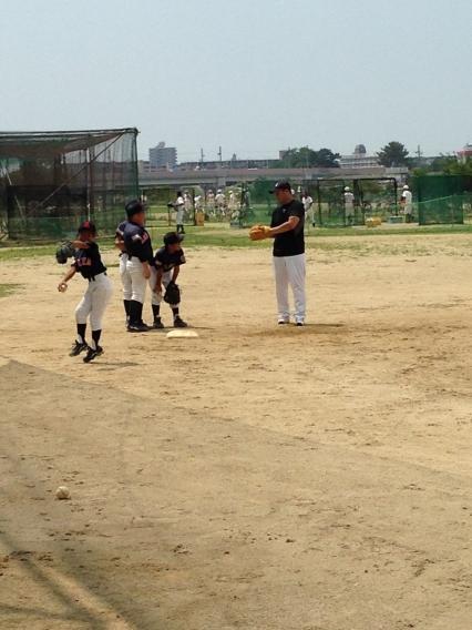 野球教室が行われました。
