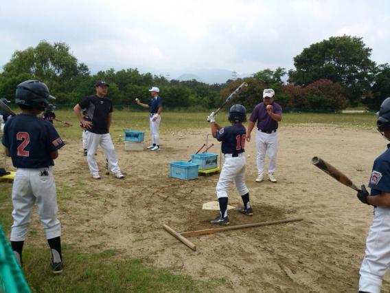 野球教室が行われました